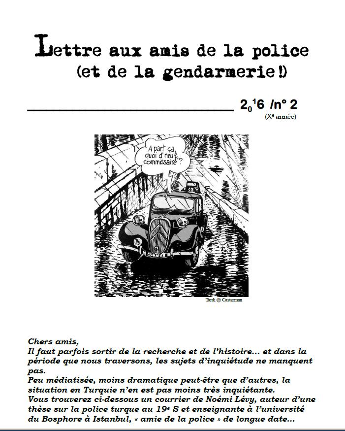 couv lettre aux amis police 2 2016