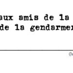 Lettre aux amis de la police (et de la gendarmerie !) - 2020 - n° 4